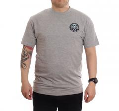 Independent Split Cross T-Shirt Dark Heather