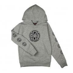 Independent Youth Truck Co. Sleeve Hoodie Heather Grey