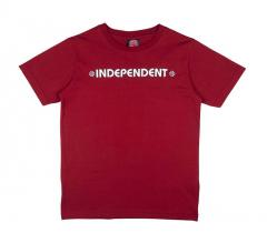 Independent Youth Bar / Cross T-Shirt Maroon