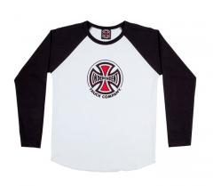 Independent Youth Truck Co. Baseball L/S T-Shirt Black / White