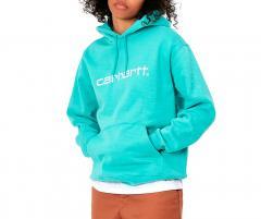 Carhartt Wip Hooded Carhartt Sweatshirt Bondi / White