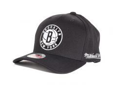 Mitchell & Ness Brooklyn Nets Solid Redline Snapback Black / Black