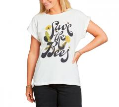 Dedicated Womens Save The Bees T-Shirt Off White