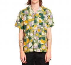 Dedicated Short Sleeve Shirt Marstrand Seventies Floral Green
