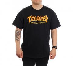 Thrasher Fire Logo T-Shirt Black
