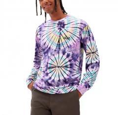 Vans Burst Tie Dye Long Sleeve T-Shirt English Lavender