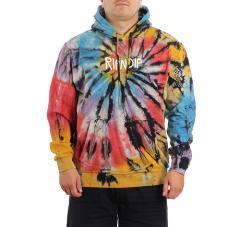 Ripndip Rubber Logo Hoodie Sunburnt Spiral Tie Dye