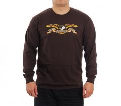 Anti Hero Eagle Longsleeve T-Shirt Dark Chocolate