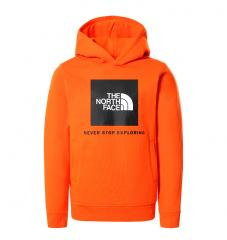 The North Face Youth Box Hoodie Red Orange