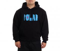 Polar Skate Co. Cut Logo Hoodie Black