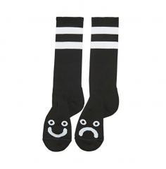 Polar Skate Co. Happy Sad Socks - Long Black