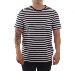 Makia Verkstad T-Shirt Navy / White
