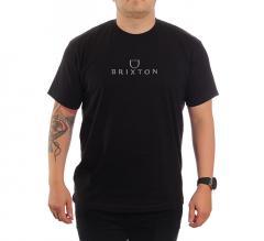 Brixton Alpha Thread S/S T-Shirt Black / Grey
