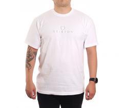 Brixton Alpha Thread S/S T-Shirt White / White