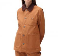 Dickies Womens Duck Canvas Chore Coat Brown Duck