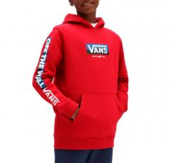 Vans Youth Easy Logo Pullover Hoodie Chili Pepper