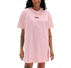 Vans Womens Center Vee Tee Dress Powder Pink