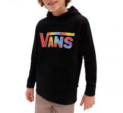Vans Youth Classic Pullover Hoodie Black / Spiral Tie Dye