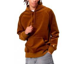Carhartt WIP Hooded Cord Sweatshirt Tawny / Gold