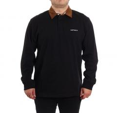 Carhartt Wip L/S Cord Rugby Polo Black / H Brown