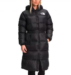 The North Face Womens Nuptse Belted Long Parka TNF Black