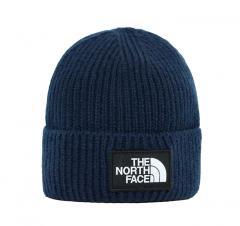 The North Face Logo Box Cuffed Beanie TNF Navy