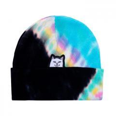 Ripndip Lord Nermal Beanie Black / Rainbow Tie Dye